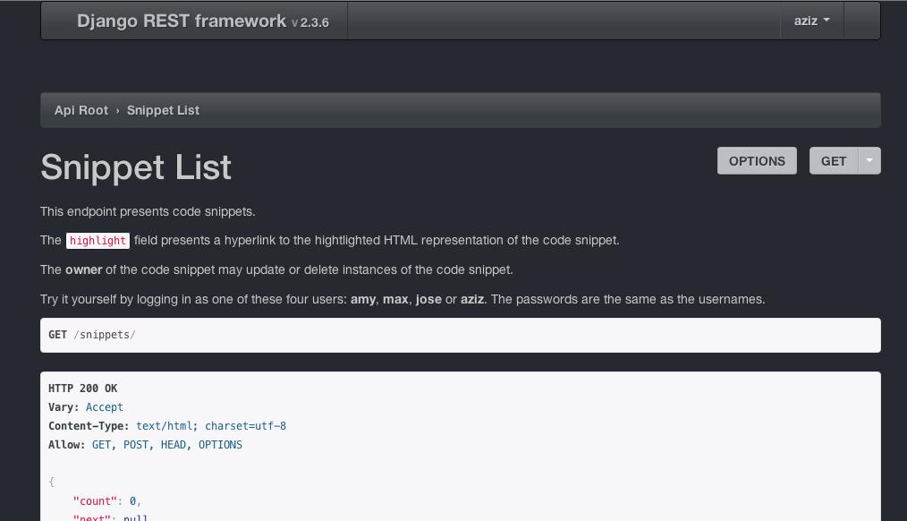 The browsable api django rest framework slate theme malvernweather Choice Image